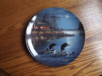 """decorative plate - """"Night Song. The Loon"""""""