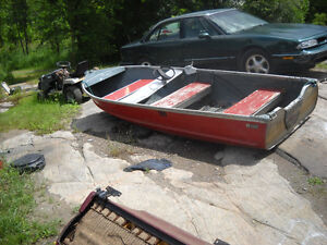 Good Used 14 ft Aluminum Boat - Sears Made.