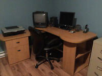 Work - Computer Desck and Office Chair