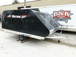2019 Triton XT11-101 SQ Snowmobile Trailer with 2KF COVER