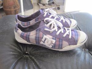 DC Women's Chelsea Z LSE Sneaker - Purple Plaid - Size 8.5