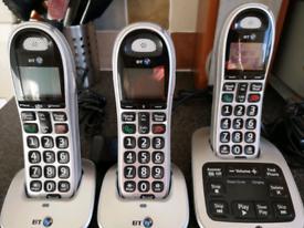 BT4500 Trio Digital Cordless Big Button Phones with Answering Machine