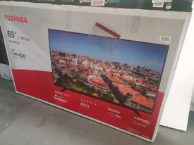 TV 65INCH BRAND NEW TOSHIBA 4K ULTRA HD HDR WITH WARRANTY