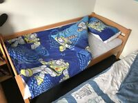 John Lewis bunk beds with mattresses, can use as 2 x single beds