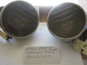 1930-1931 Ford Model A S/S Headlights- Three Pairs