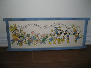 SOLID WOOD FRAMED WALLHANGING - MICKEY MOUSE BAND FRAMED