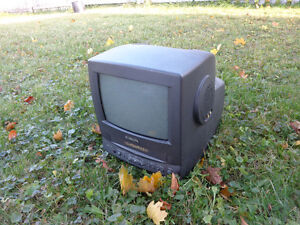 Old Small TV with VHS