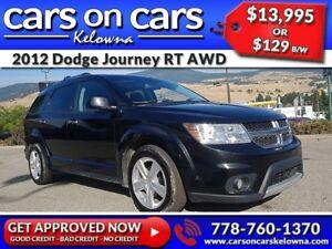 2012 Dodge Journey RT AWD w/Leather, Sunroof, BlueTooth $129B/W