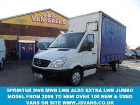 MERCEDES-BENZ SPRINTER CURTAINSIDER 2.1 313 CDI 136 BHP
