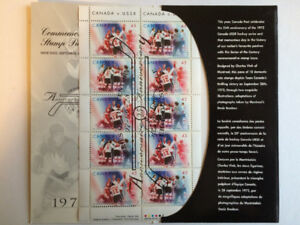 Canada Hockey 25th Anniversary Commemorative stamps