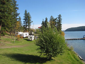 Recreational enthusiasts check out this Lac La Hache waterfront