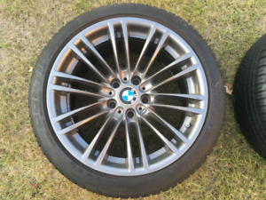 BMW M3 Rims with almost new tires for sale, Like New !!