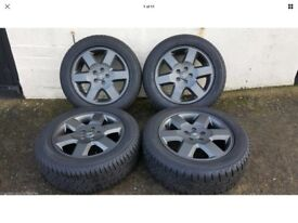 """GENUINE Land Rover discovery 3 anthracite grey 6 spoke 19"""" wheels"""