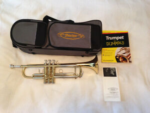 Sinclair Bb Trumpet + case+ Trumpet for Beginners book!