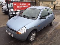 2005 (55) FORD KA , 44000 MILES, MOT OCTOBER, TRADE IN TO CLEAR