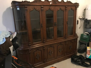 Free giveaway wine/alcohol/china cabinet display