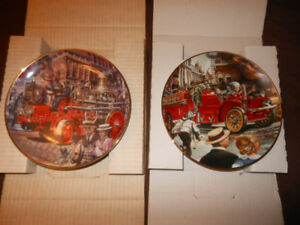 Two fire engine plates.