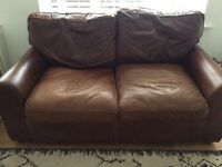 Leather sofas x 2 from House of Fraser