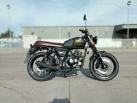 Bullit Bluroc 125cc Motorcycle Retro Scrambler Finance & Delivery
