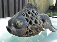 CAST IRON GOLDFISH KIO