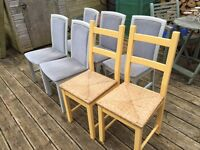 Free - Dining Chairs x 7 - perfect for up cycling!
