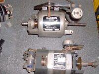 Vintage Edison ac/dc motors