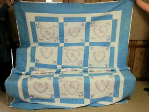Hand crafted queen quilt