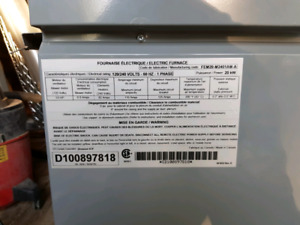 Selling a Tempstar electric furnace with ductwork.