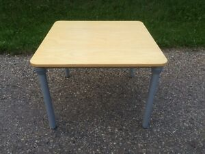 Ikea Birch Table with Height Adjustable Legs