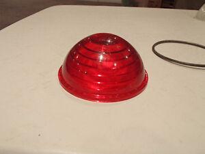 Vintage U.S.C. Co. Red GLASS Stop Tail Light Lamp LENS Car Truck Sarnia Sarnia Area image 3