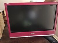 "Pink Sony Bravia 20"" Flat Screen TV"