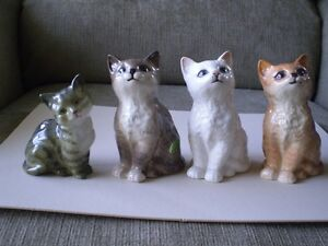 "4- Beswick England Figurines - "" Cats """