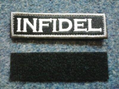 Hook Backed Cloth INFIDEL Patch 10X2.5cm - PEGIDA UKIP EUROPA EUROPE RISING UK