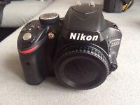 Nikon d3200 dsrl camera, body only, boxed.