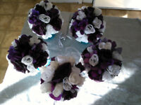 Purple and White Wedding bouquets (5)