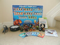 16 SKYLANDERS, PORTAL AND GAME FOR XBOX 360 GREAT CONDITION