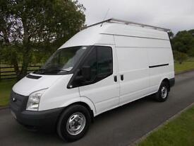 FORD TRANSIT 350 125PS LWB HI ROOF VAN 14 REG 71,000 MILES GLASS RACK