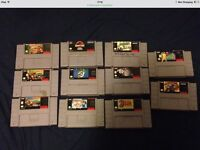 SUper Nintendo with 11 games
