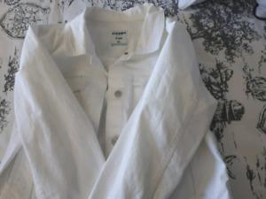 XL white jean jacket