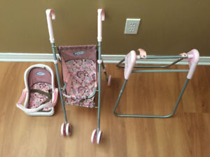 Graco baby stroller/swing/high chair and bed
