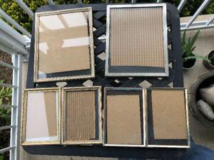 Six Metal Photo Frames