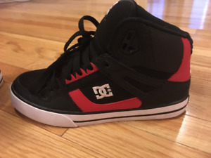 DC high-top skate shoes