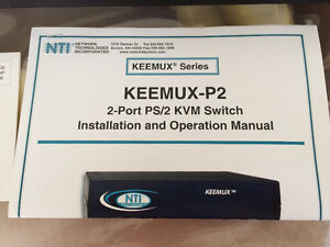 Keemux-P2 2-port PS/2 KVM switch, flambant neuf West Island Greater Montréal image 2