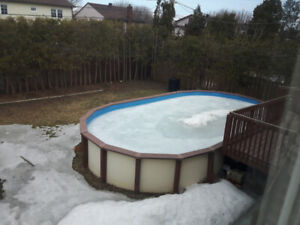 16' x 28' Oval Above Ground Swimming Pools