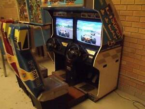 SEGA F1 SUPER LAP 2 PLAYER SIT IN CAR RACING ARCADE GAME MACHINE Malaga Swan Area Preview
