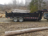 Dump trailer rental/rent/dumpster St Stephen/St Andrews /$70 hr