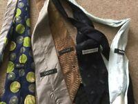 5 x designer ties and tie hnger