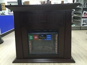 Lowell Fireplace MANTEL Espresso with Electric Insert, New