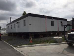 roulotte chantier chalet dortoir campement bâtiment modulaire