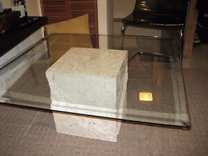 3 ft. x 3 ft. x 1 ft. Glass Top Table